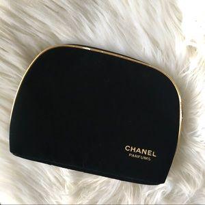 Chanel Parfums Velvet Cosmetic Bag